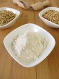 Buckwheat wholemeal flour Royalty Free Stock Image