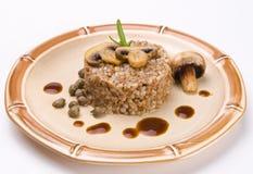 Buckwheats with nut cream Royalty Free Stock Photos