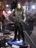 Bucky Barnes Winter Soldier in Toy Soul 2015. Bucky Barnes / Winter Soldier display in TOY SOUL 2015 in Hong Kong Royalty Free Stock Image