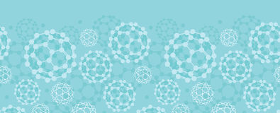 Buckyballs horizontal seamless pattern background Stock Images