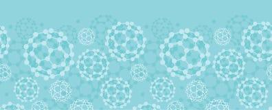 Buckyballs horyzontalny bezszwowy deseniowy tło royalty ilustracja