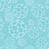 Buckyballs seamless pattern background Stock Photos