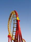 Bucle del roller coaster Foto de archivo libre de regalías