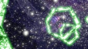 Bucle infinito del wormhole del túnel hermoso del espacio ilustración del vector
