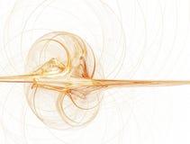 Bucle rendido anaranjado de la llama en blanco libre illustration