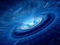 Buco del verme a spirale blu Fotografia Stock
