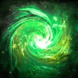 Buco del verme verde - elementi di questa immagine ammobiliati dalla NASA Immagine Stock