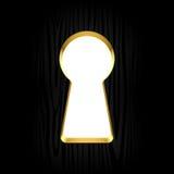 Buco della serratura Fotografia Stock