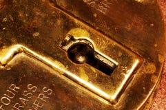 Buco della serratura fotografie stock libere da diritti