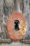 Buco della serratura arrugginito immagine stock libera da diritti