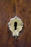 Buco della serratura di vecchio doorlock Immagine Stock Libera da Diritti
