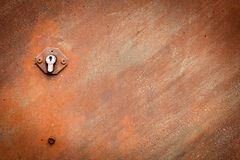Buco della serratura esposto all'aria fotografie stock libere da diritti