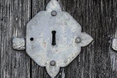 Buco della serratura medioevale Fotografia Stock