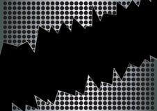 Buco nero in metallo del grunge Fotografia Stock Libera da Diritti