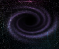 Buco nero nella priorità bassa dello spazio Fotografie Stock