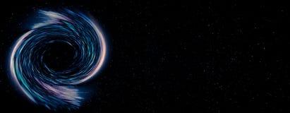 Buco nero nello spazio cosmico fotografie stock libere da diritti