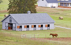 Bucolic Beauty. This is an exemplary example of the pristine stables/farms in East Tennessee Royalty Free Stock Photo