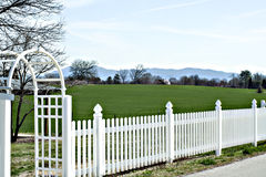 Bucolic Beauty. One of many lush properties that welcome Spring in a grand way in East Tennessee Stock Photos