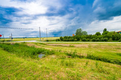Bucolic landscape. Of the countryside of Romagna in Italy Stock Photography