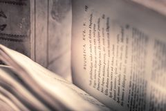 Bucolica. Old books from my school Royalty Free Stock Photos