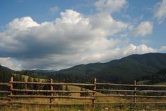 从Bucovina的山风景 库存图片