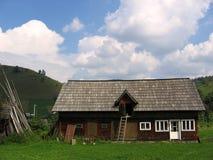 Bucovina landscape. Landscape in Bucovina, Romania. Silence before storm Royalty Free Stock Photography