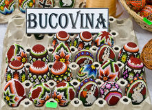 Bucovina traditional easter eggs Royalty Free Stock Photo