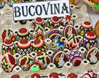 Bucovina traditional easter eggs Royalty Free Stock Images