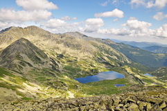 Bucura Lake. Lake Bucura is a glacier cirque lake, situated in the Retezat Mountains, in Romania royalty free stock photo