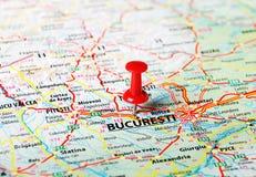 Bucuresti, de kaart van Roemenië Royalty-vrije Stock Foto