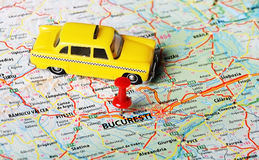 Bucuresti ,Romania map taxi Royalty Free Stock Photos