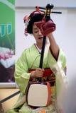 BUCURESTI, RUMUNIA 18 05 2018 gejsza Umekichi przy Japońskimi kultura dniami obraz stock