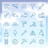 25 budów ikon ustawiających Zdjęcie Stock