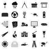 Budów ikony ustawiać, prosty styl ilustracja wektor