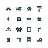 Budów ikony ustawiać Zdjęcie Royalty Free