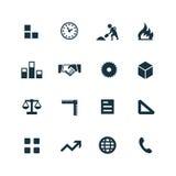 Budów ikony ustawiać Zdjęcia Stock