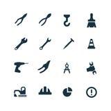 Budów ikony ustawiać Zdjęcia Royalty Free