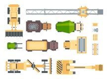 Budów maszyny - set nowożytni wektorowi elementy Obrazy Stock