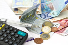 budżeta liczenie Zdjęcie Stock