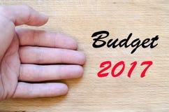Budżeta teksta 2017 pojęcie Obrazy Stock