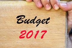 Budżeta teksta 2017 pojęcie Zdjęcie Stock