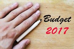 Budżeta teksta 2017 pojęcie Obraz Stock