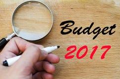 Budżeta teksta 2017 pojęcie Zdjęcia Stock