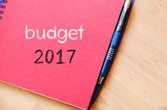 Budżeta teksta 2017 pojęcie na notatniku Zdjęcie Royalty Free