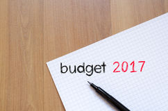 Budżeta teksta 2017 pojęcie na notatniku Fotografia Stock