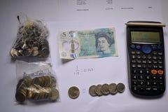 Budżetować z kalkulatorem i wekslowym tempem Obraz Stock