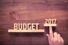 Budżet dla roku 2017 Zdjęcia Royalty Free