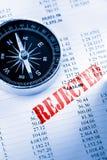 Budżet i kompas Fotografia Stock