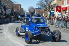 Bud Light Buggy in de Dagparade Boston, de V.S. van Heilige Patrick stock afbeelding