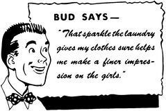 Bud Says ilustração stock